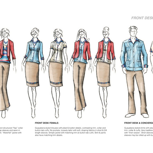 Front Desk Uniforms