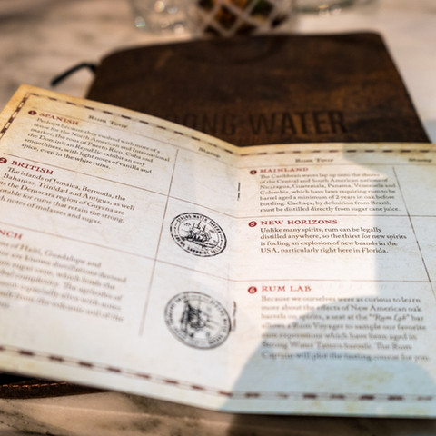 Strong Water Tavern Rum Passport