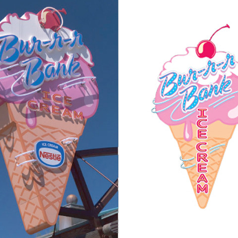 Bur-r-r Bank Ice Cream Marquee