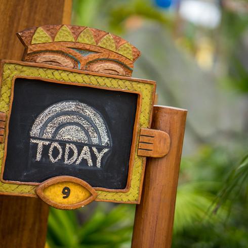 Guest Cabana Chalk Board