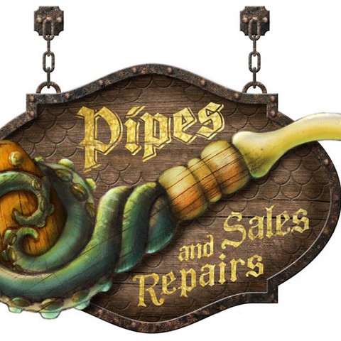 Specialty Pipes - Show Graphic Concept Illustration