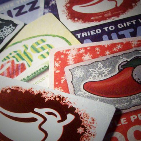 Chili's Restaurant - Seasonal Gift Cards & Coasters