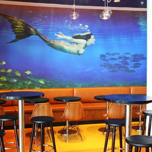 Starbucks Mermaid Mural