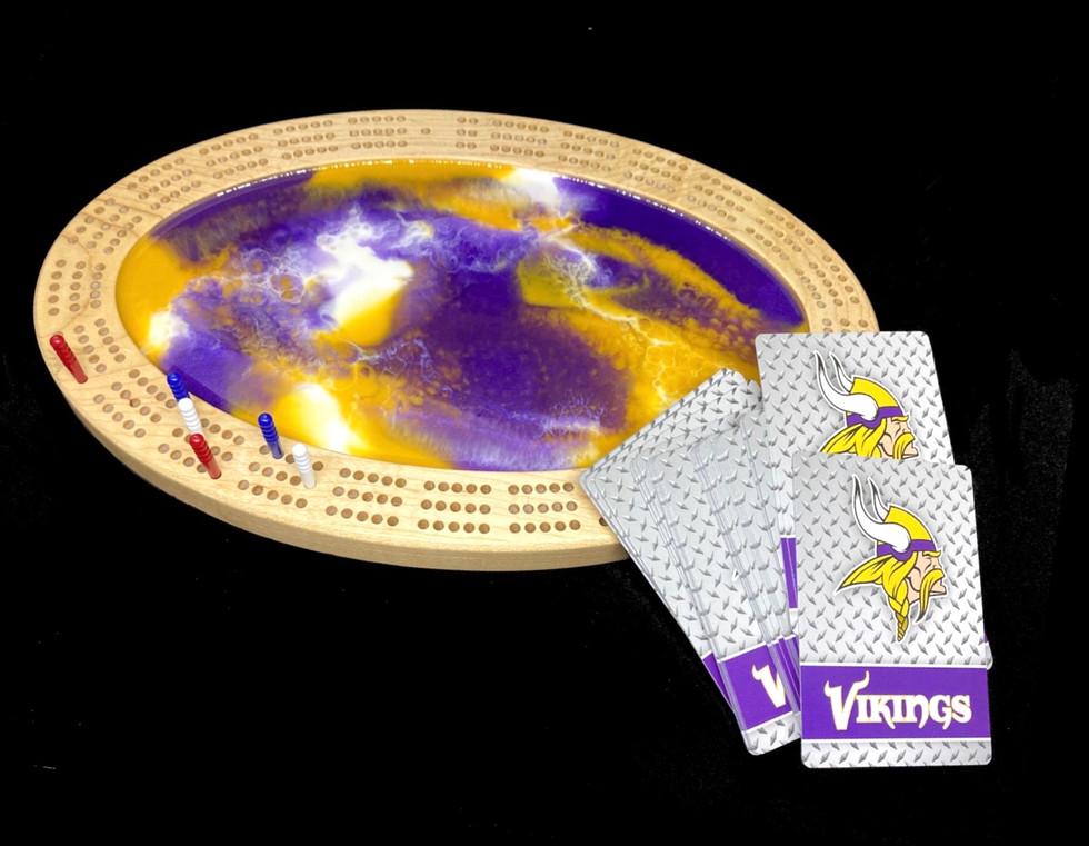 Custom Vikings Crib Board