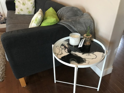 Metal Serving Tray Table
