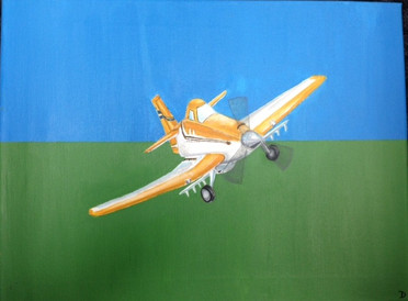 Bright Orange Plane - Grayson's Room - Sold.jpg
