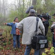 Filming Seneca Nation member, Brenda Deeghan, at Red House