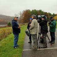 Tyler Heron interview at Willow Bay (L to R: Tyler Heron, John Davis, Paul Lamont, Stephen McCarthy, Scott Sackett