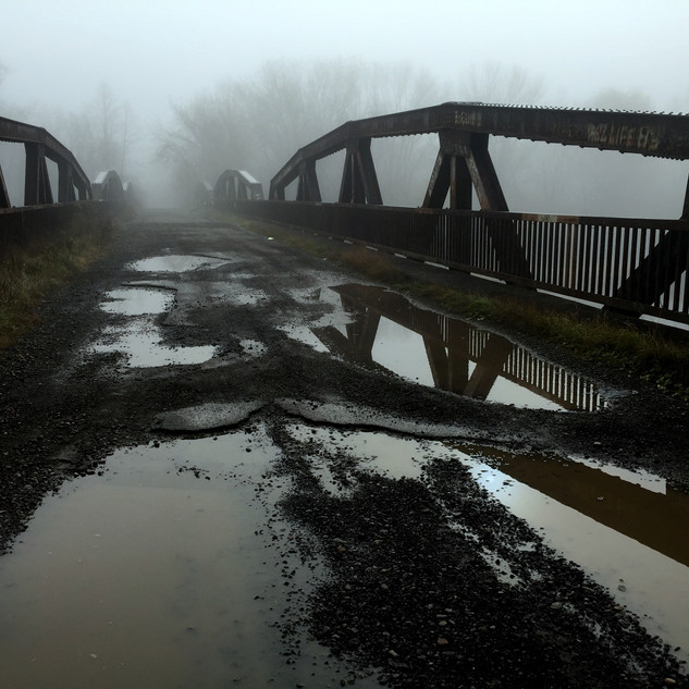Bridge at abandoned village of Red House