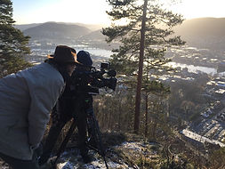 Lamont and McCarthy filming in Drammen N