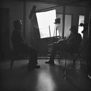 Interviewing Stephen Gordon, a member of the Seneca Nation