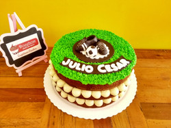 Bolo Naked Cake Futebol