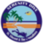 Serenity Dive SVGdive logo which represents the best scuba diving and snorkelling service in SVG logo