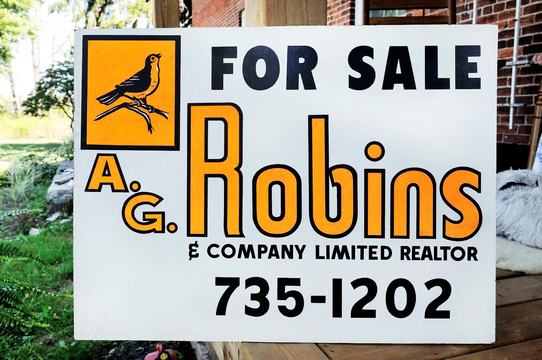 "Original ""For Sale"" sign..."