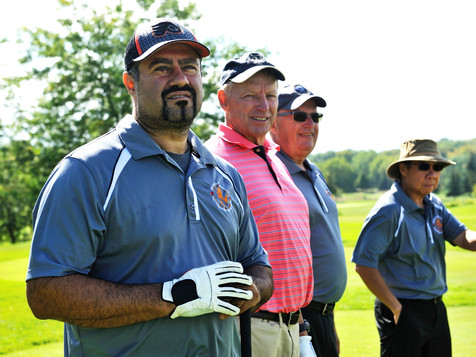 Jerry supports golf tournaments raising money for the community.