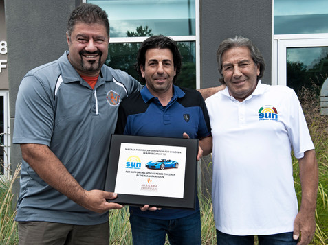 Supporting the community! Sun Collision's annual car show raised over $20,000 for Niagara Peninsula Foundation for Children.