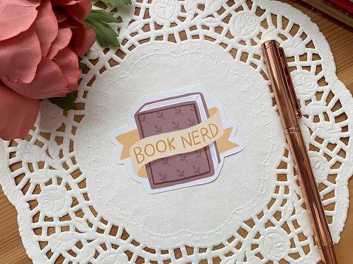 Book Nerd Die Cut Sticker