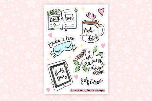 Self Care Essentials Sticker Sheet SS 006