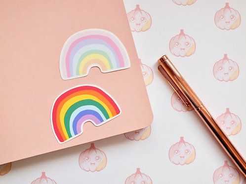 Rainbow Vinyl Paper Stickers 008