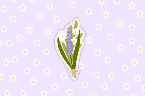 Flower Bundle Vinyl Paper Sticker 002