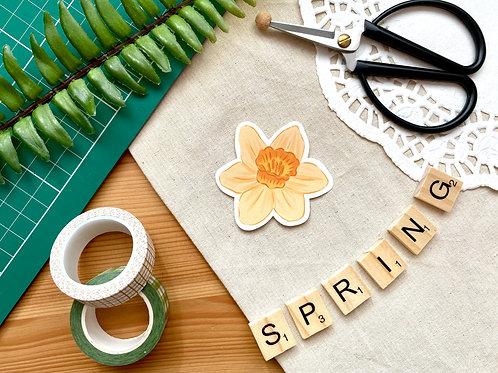 Daffodil Die Cut Sticker
