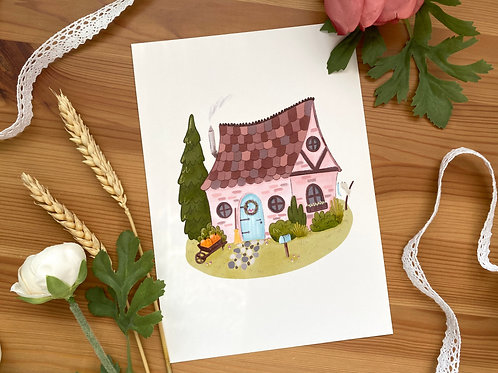 Witch's Cottage Art Print