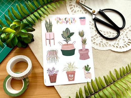 House Plant Planner Stickers Sticker Sheet