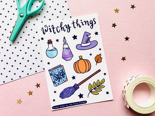 Witchy Things Sticker Sheet SS 001