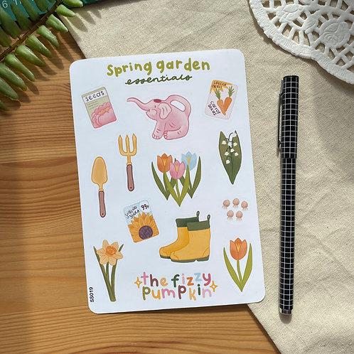 Spring Garden Planner Stickers Sticker Sheet