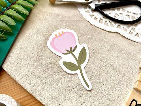 Flower Die Cut Sticker