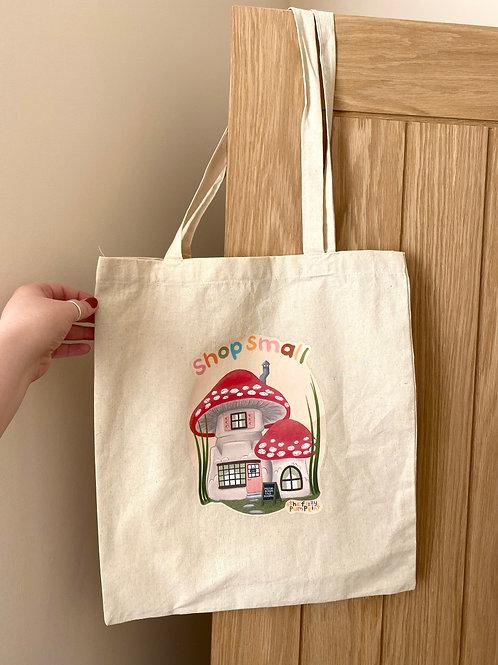 Shop Small Mushroom Tote Bag