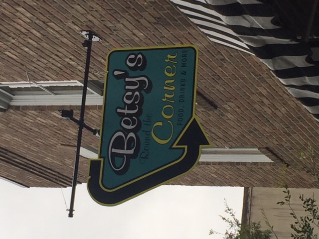 Betsy's Hanging sign