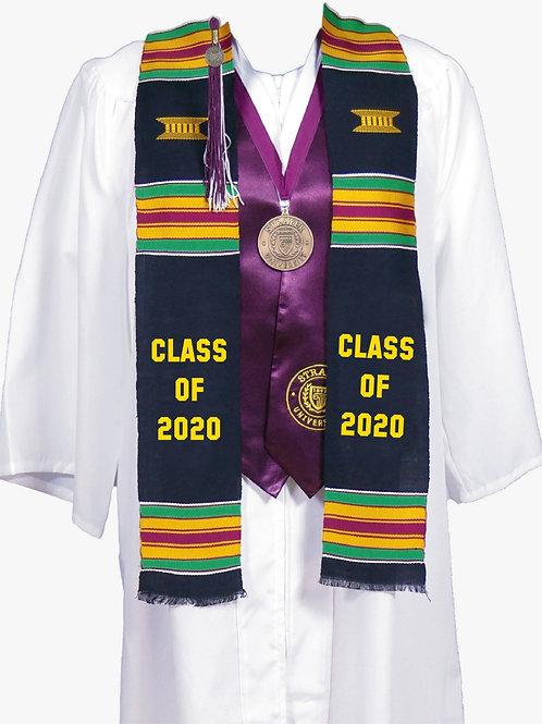 Black Kente Stole (Class of 2020)