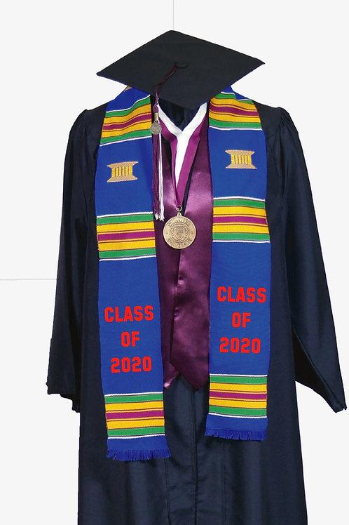 Blue Kente Stole (Class of 2020)