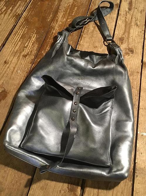 Leather bag Maxim Sharov B-041silver