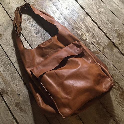 Кожаная сумка Maxim Sharov B-072brown