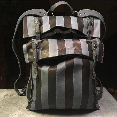Кожаный рюкзак Maxim Sharov BP-12600stripes