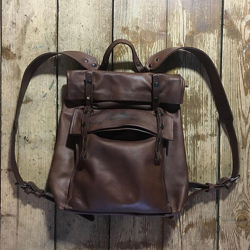 Leather backpack Maxim Sharov BP-8700