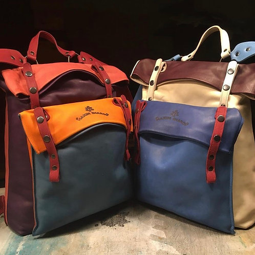 Leather backpack Maxim Sharov BP-10000