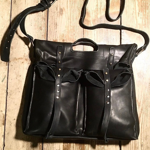 Кожаная сумка Maxim Sharov  B-038black