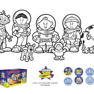 Lunar Jim LineArt