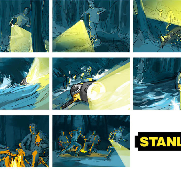 Commercial Storyboards for Stanley