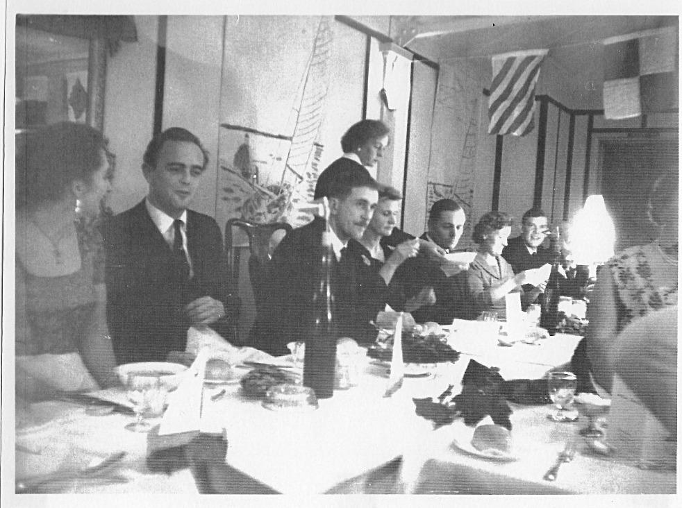 1953 - Xmas Dinner in the 'Club Hut'