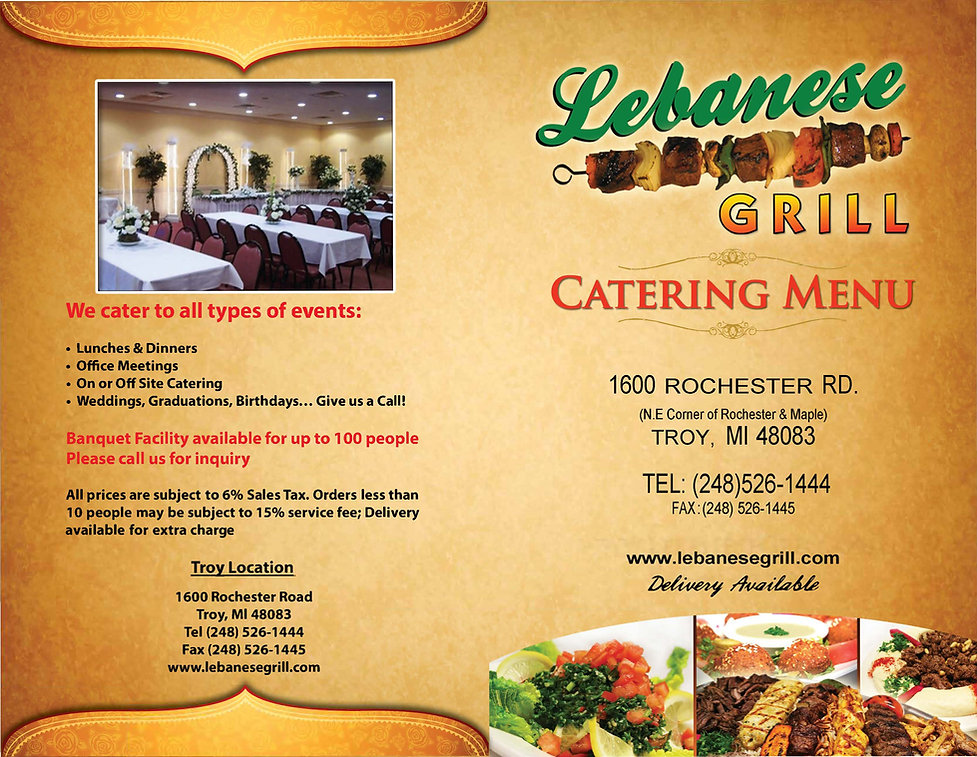 Lebanese Grill Troy Catering Menu 2021_P