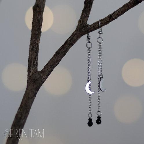 Lune  - Boucles d'oreilles