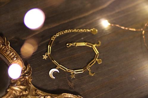Bracelet lunes étoiles