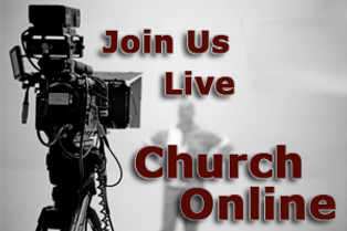 Video Camera with note: Join us live online