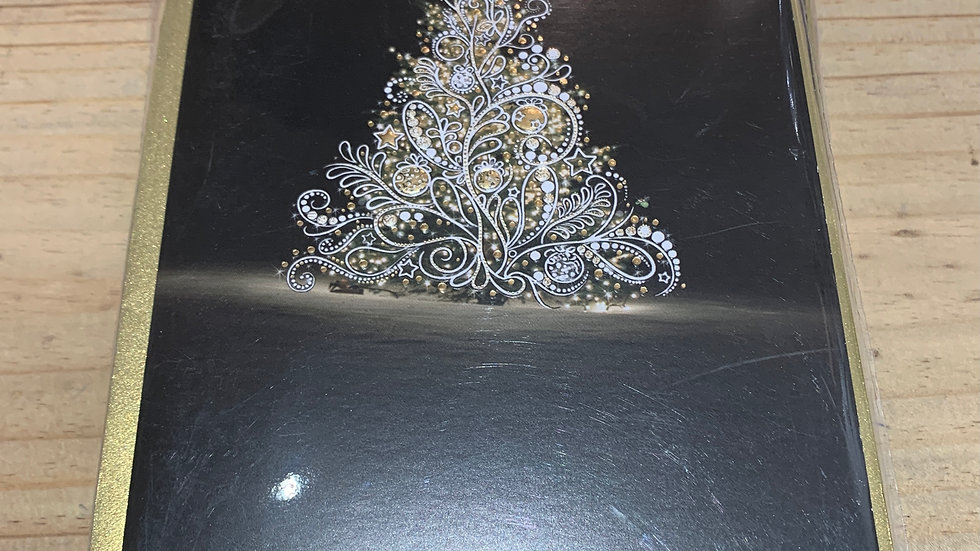 WHTE CHRISTMAS TREE PACK OF 5 CHRISTMAS CARDS