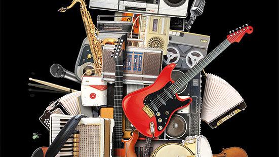 MUSIC ROBOT GREETINGS CARD