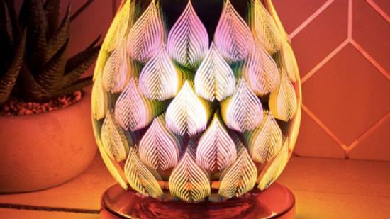 Desire Rose Gold Bulb Lamp Flame